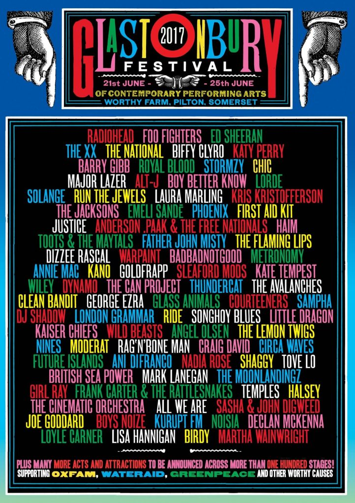 Line-Up Akhir Glastonbury 2017