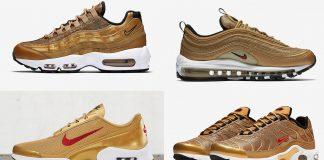 Setelah Warna Perak, Bulan Mei 2017 Nike Rilis Empat Sepatu Berwarna Emas.